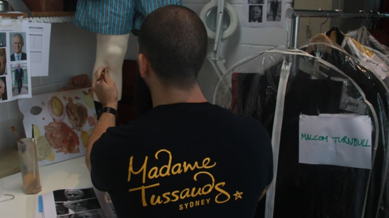 Work on the Malcolm Turnbull wax figure that was set to be added to the Madame Tussauds Sydney museum has stopped abruptly after he lost his prime ministership.