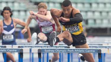 In high demand: rising star Sasha Zhoya has got Australian athletics officials excited.