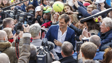 Priorities: Roger Federer is in Geneva to launch the Laver Cup.