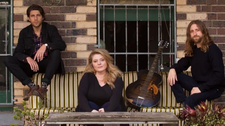 The Bashevis Singers (from left): Gideon Preiss, Evie Gawenda and Husky Gawenda.