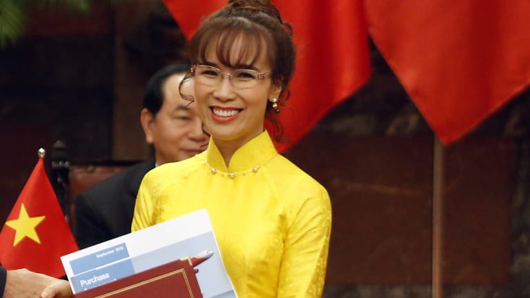 VietJet was founded by Nguyen Thi Phuong Thao, Vietnam's first female billionaire.