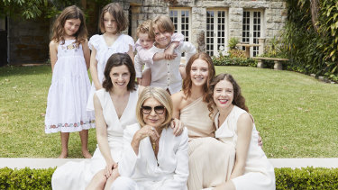 Exclusive pics from Women's Weekly of Carla Zampatti and family. Supplied under embargo. 20th April 2021