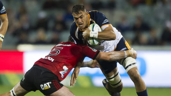 Seeing red: Brumbies lock Rory Arnold banned for three weeks