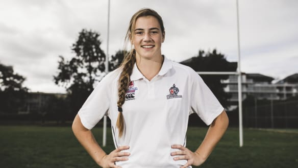 Is schoolgirl Brooke Gilroy Canberra's next rugby sevens star?