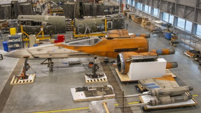 Life-sized Star Wars X-wing fighter lands in US museum