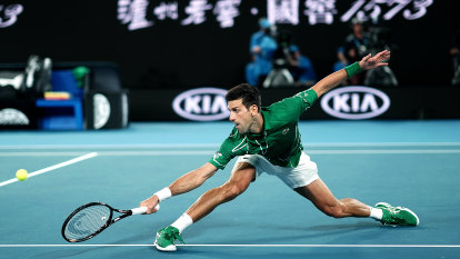 Novak Djokovic's triple double-fault mishap on way to first-round win