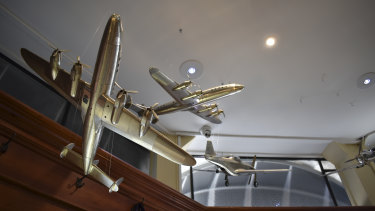 Some of the vintage aeroplanes.