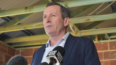 West Australian premier Mark McGowan.