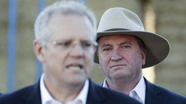 Barnaby Joyce with Prime Minister Scott Morrison.