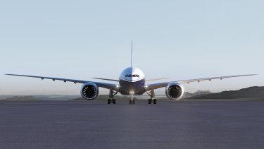 A Boeing 777X