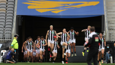 The Magpies were beaten by 66 points last time they played West Coast in Perth.
