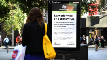 Sydney's CBD is seeing a dramatic reduction in workers and shoppers on the streets as business are asking their staff to work from home in an effort to prevent the spread of Coronavirus