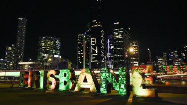 Brisbane turns on a light show during the announcement of the host city for the 2032 Olympic Games.