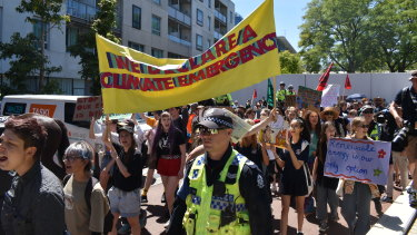 Climate activists picketed the Resources Technology Showcase in Perth last week.
