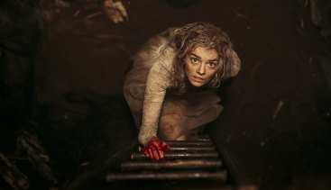 Samara Weaving gets her hands dirty in the horror Ready or Not.