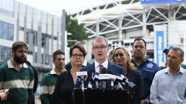 Michael Daley outside Allianz Stadium on Thursday.