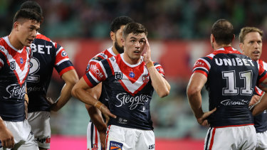 Kyle Flanagan shows the pressure of a tough year at the Roosters.