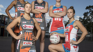 Cross-town rivals: Jamie-Lee Price (left) and Paige Hadley will face off again in the Sydney derby.