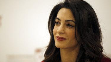 British human rights lawyer Amal Clooney.