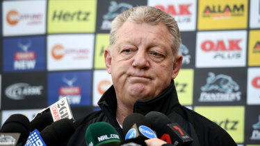 Beyond disappointed: Panthers boss Phil Gould admits he is reeling from the sex tape scandal to hit his club.