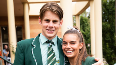 Kaine Baldwin with Westminster vice-captain Ruby Liptak taken at the start of the school year.