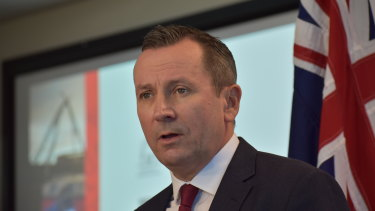Premier Mark McGowan. is heading east to lure companies west.