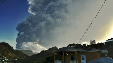 The eruption of a volcano on the Caribbean island of Saint Vincent is delaying confirmation of Australia's tour of the West Indies.