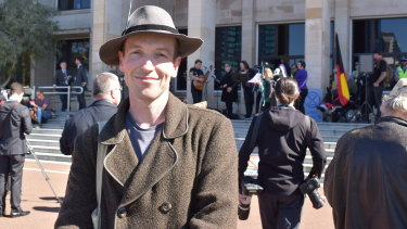 One of Perth's Extinction Rebellion organisers, Jesse Noakes.