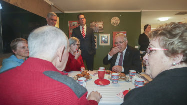 Prime Minister Scott Morrison holds a roundtable with senior Australians on Tuesday.