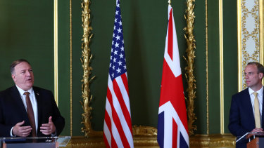 The US needs Australia, says US Secretary of State Mike Pompeo who is speaking during a joint press conference with Britain's Foreign Secretary Dominic Raab.