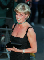 Diana, Princess of Wales, smiles as she arrives at the Tate Gallery in London.
