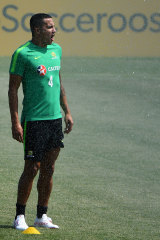 The waiting game: Socceroos legend Tim Cahill is yet to enter the game at this World Cup.