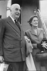 Sir Robert Menzies and his wife, Dame Patti Menzies