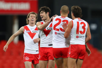 The Swans are now just one win behind fourth-placed Port Adelaide.