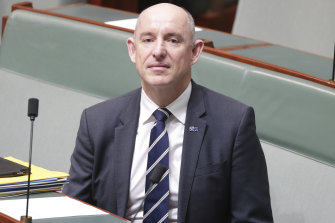 Government Services Minister Stuart Robert.