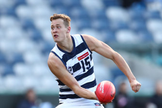 Nathan Kreuger playing VFL for Geelong.