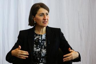 Premier Gladys Berejiklian said she looked forward to a less disruptive 2021.