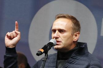 Russian opposition politician Alexei Navalny.