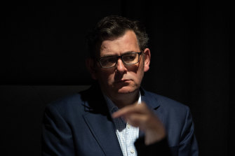 "Daniel Andrews says he is hitting ""pause"" on the announcement of reopening."