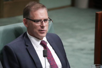 Federal Labor MP Anthony Byrne in parliament in 2018.