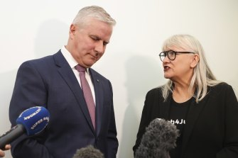 The tone of the day was set in the morning when Michael McCormack was button-holed by the organiser of the women's March 4 Justice rally, Janine Hendry.