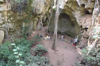 The Panga ya Saidi cave site in Kenya.