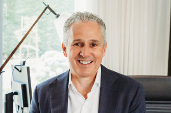 The Telstra boss spoke to businesspeople from his home office in Melbourne on Thursday.