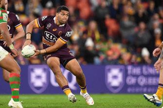 John Asiata playing for Brisbane 2021