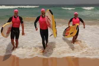 Brazilians  Caio Amaral, Lucas Molon and Ramon Guimaraes are doing their bronze medallions with Tamarama SLSC to become lifesavers.