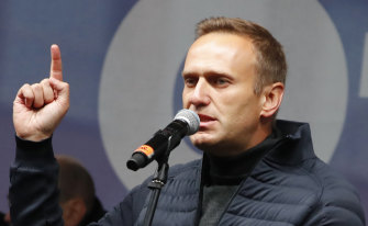 Russian opposition politician Alexei Navalny.