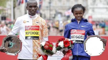 Eliud Kipchoge and Brigid Kosgei.