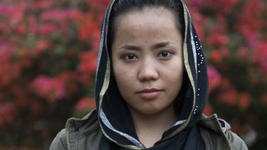Farahnaz Salehi, 20, has been in Indonesia since she fled her home aged 15.