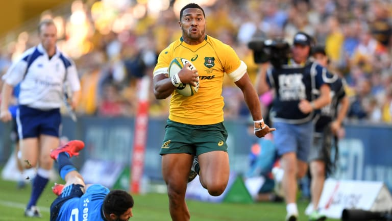 Greener pastures: Sefa Naivalu believes his move to the Reds will strengthen his Wallabies prospects.