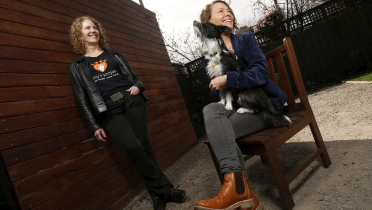 Dr Kirstin Diemer (L) and Dr Elise Boller (R) are at the forefront of fighting for better responses to the impact of and link between family violence and violence toward animals.